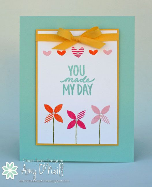 You Made My Day Fms175 Simple Cards Paper Crafts Cards Hand Made Greeting Cards