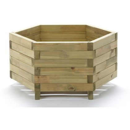 Wooden Hexagonal Planter At Homebase Be Inspired And Make Your