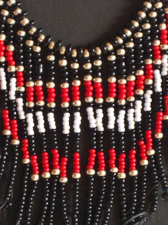 Native American necklace in black silver by MontanaTreasuresbyMJ