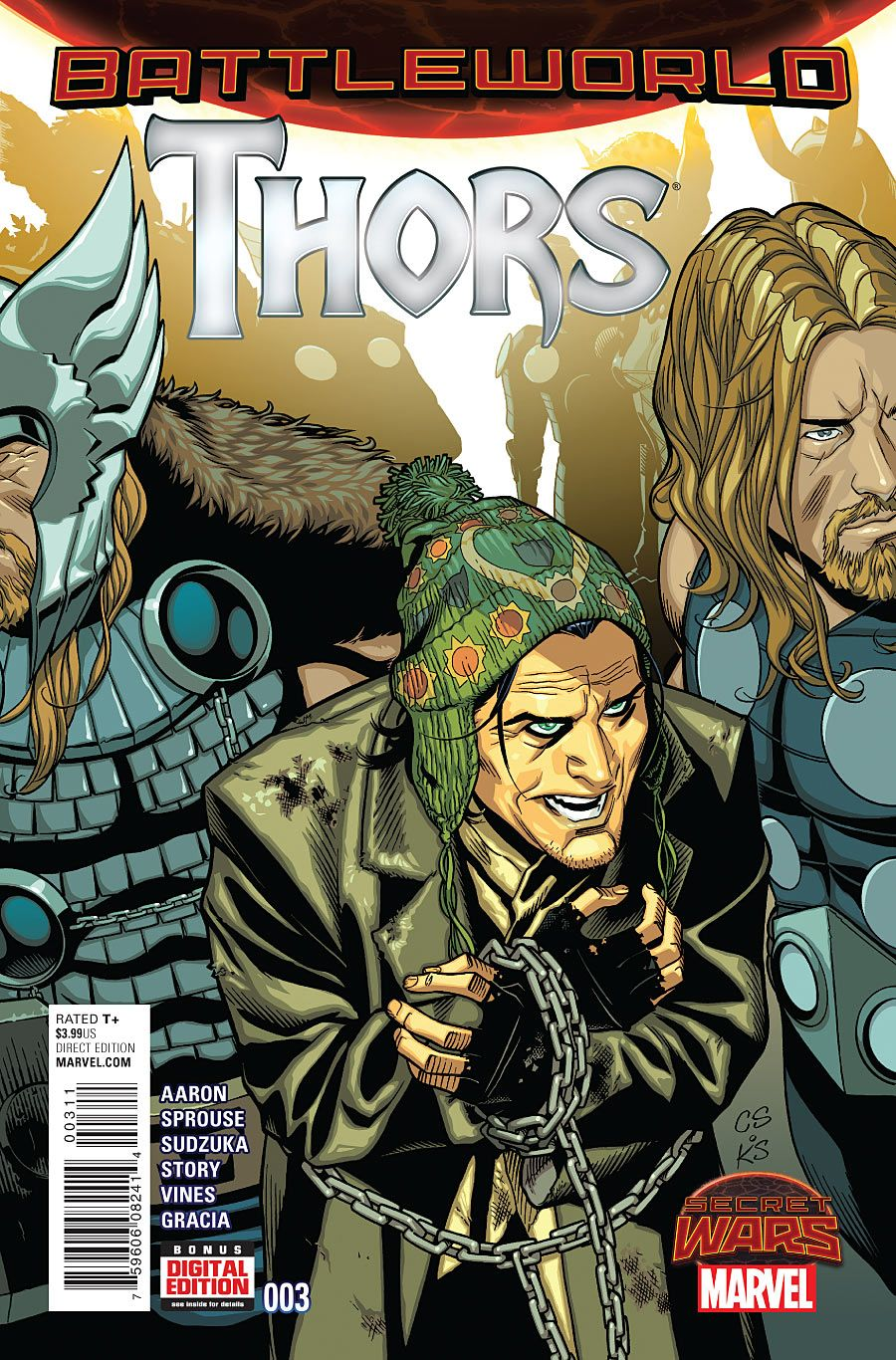 Thors #3 November 2015 https://www.facebook.com/The-Nerd-Rave-113442648801172/?ref=bookmarks #thenerdrave #marvel #comics #thors #battleworld #thor #loki #secretwars