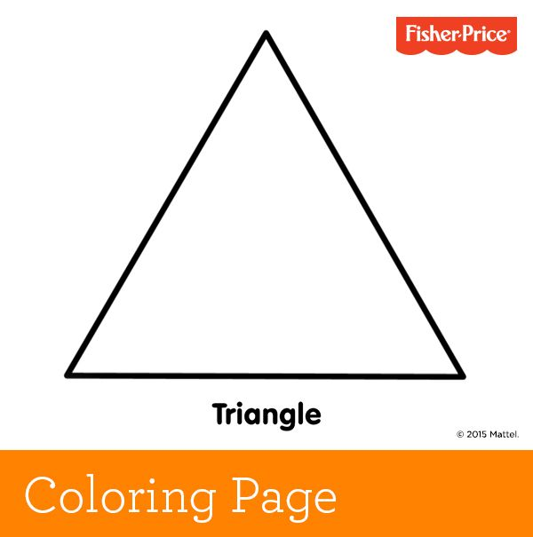 what has three sides and three pointed corners a triangle introduce your little one free coloring pageskids - Triangle Instrument Coloring Page