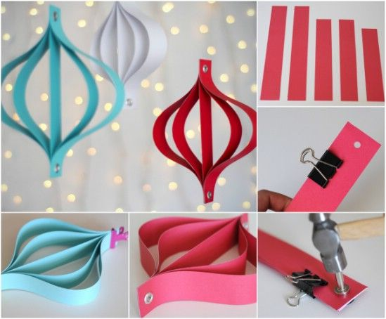 20 Hopelessly Adorable DIY Christmas Ornaments Made from Paper ...