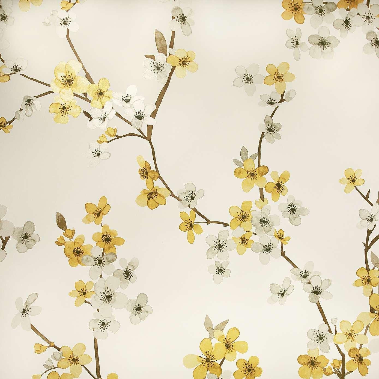 Alisha Ochre Floral Wallpaper Floral wallpaper