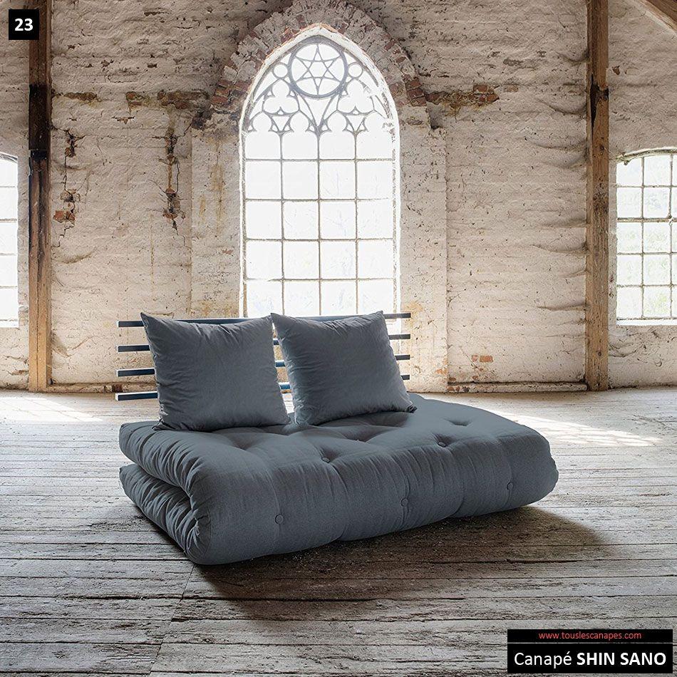 canapé futon Shin Sano de style zen   Canapés à moins de 400 euros ...