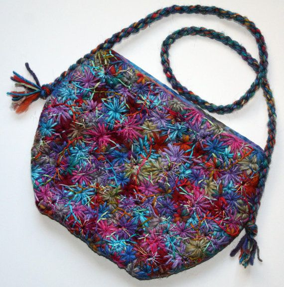 Fabulous Embroidered Rainbow Hand Bag By Ping Wynny On Etsy
