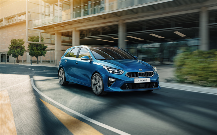 Download Wallpapers Kia Ceed 2018 New Ceed 2018 Blue