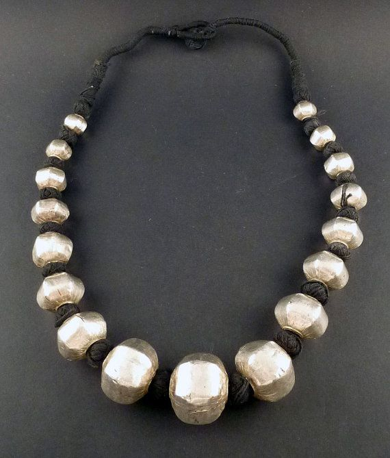 Tribal necklace with wax silver beads tribal necklace from india tribal necklace with wax silver beads tribal necklace from india ethnic jewelry india jewelry indian silver necklace tribal silver aloadofball Gallery