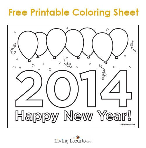 new years eve party ideas free printable 2014 coloring