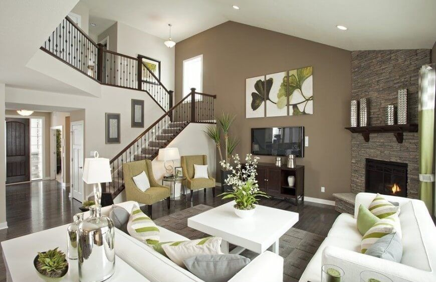Contemporary Living Room Interior Design Magnificent 72 Living Rooms With White Furniture Sofas And Chairs  White Decorating Design