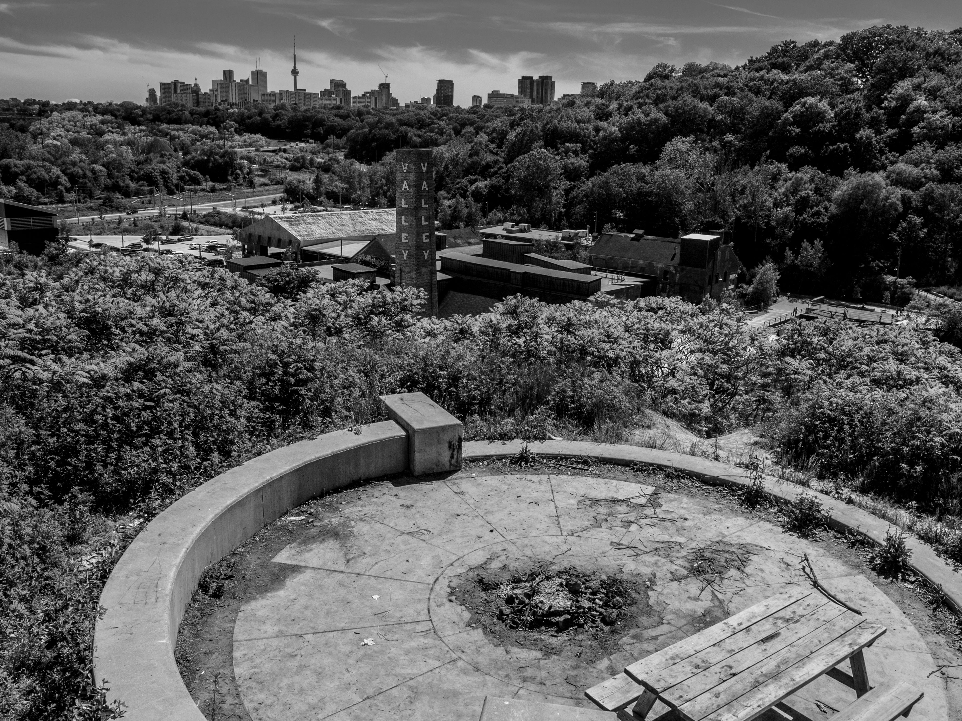 The Evergreen Brick Works Lookout. Pic By Ben Houghton.