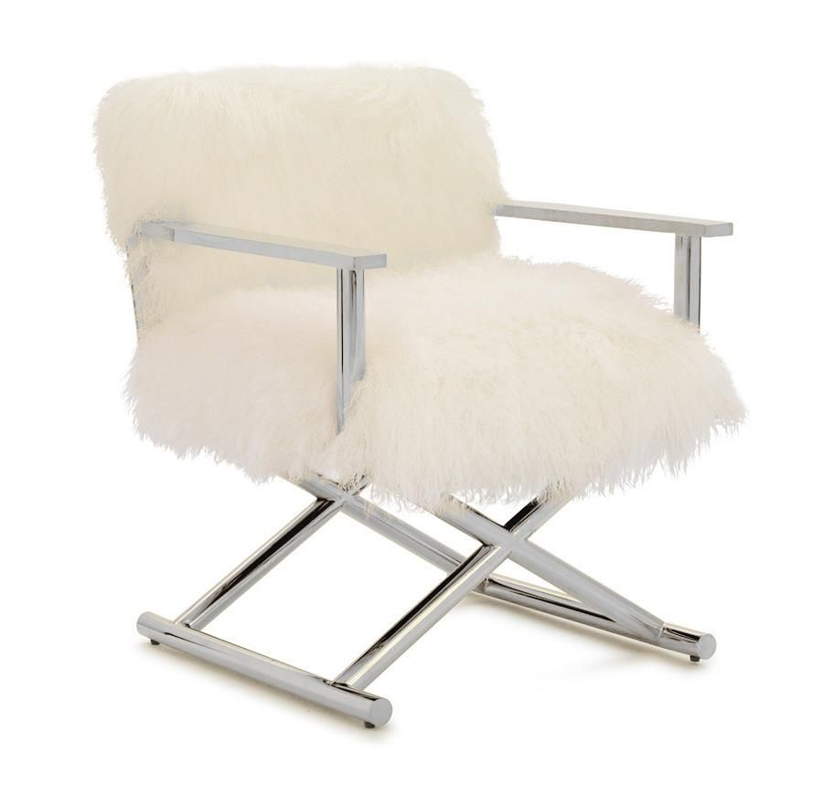 A U0026 B Home Accent Chairs Mongolian Lamb Fur Directoru0027s Chair At Great  American Home Store