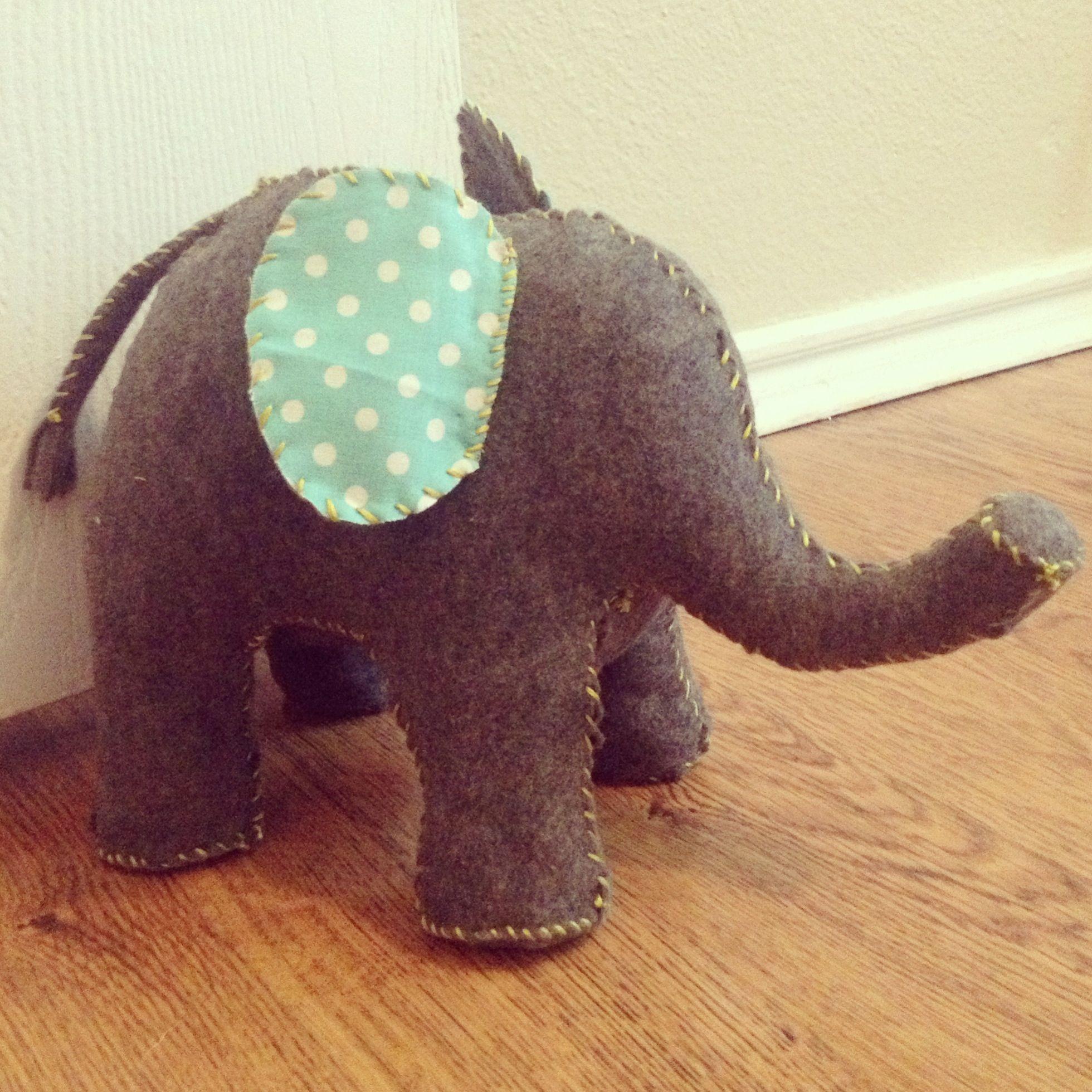 Perfect Elephant Doorstop DIYu0027d!