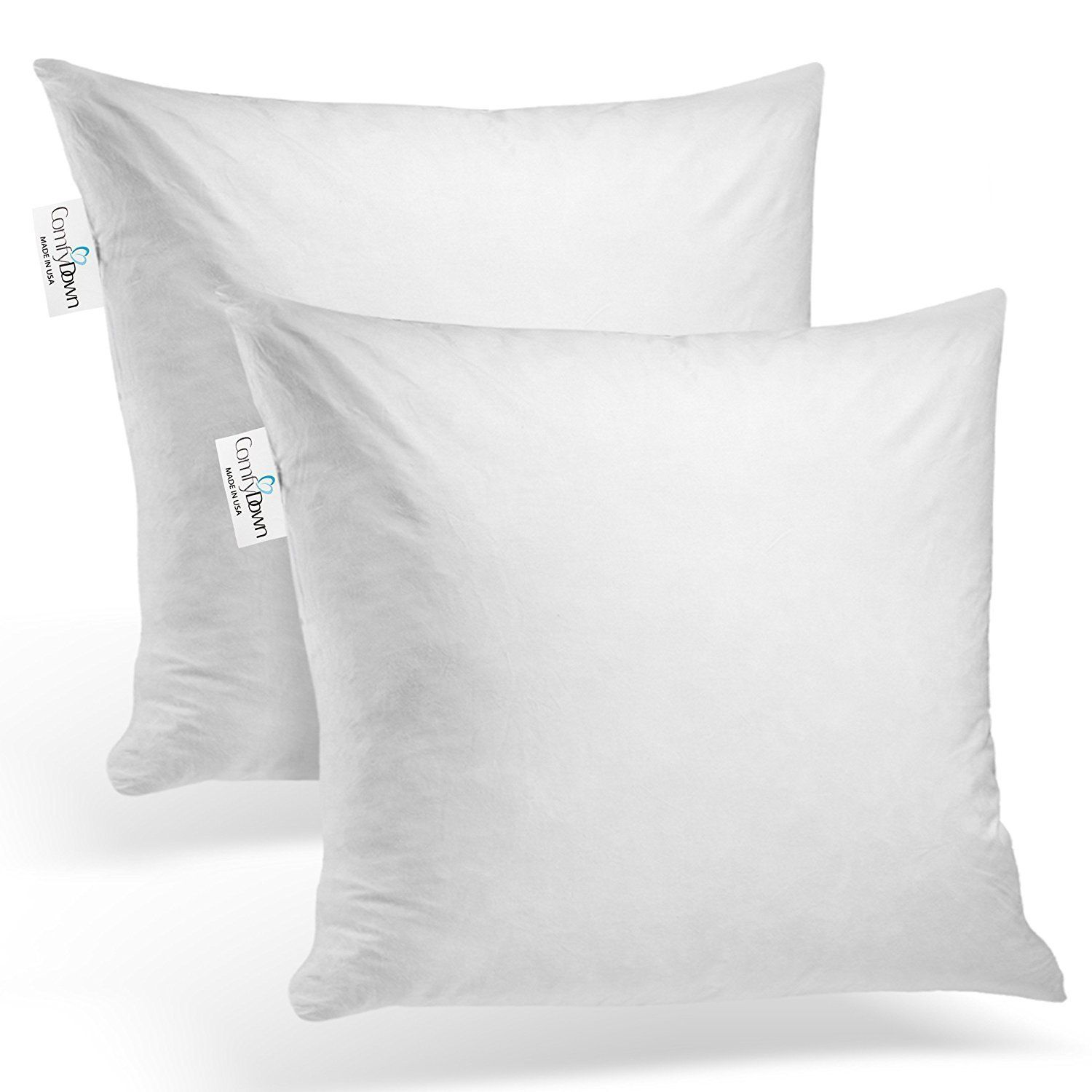 26X26 Pillow Insert Comfydown Set Of Two 95% Feather 5% Down 26 X 26 Square Decorative