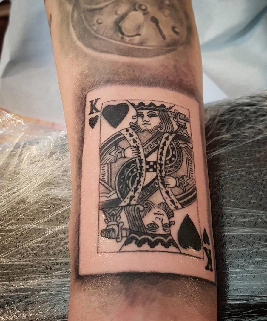 King Of Hearts Best Tattoo Ideas Designs King Of Hearts Tattoo Card Tattoo Designs Playing Card Tattoos
