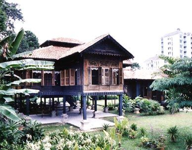Simple Malay kampung house in the Kedah state.