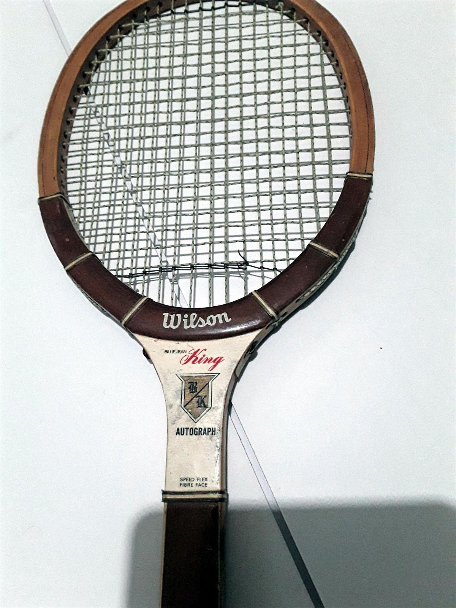 Vintage Wilson Billie Jean King Bk Autograph Model Wood Tennis Racquet 60s 70s Championship Play By Fchoicevintage O Tennis Art Tennis Racquet Billie Jean King