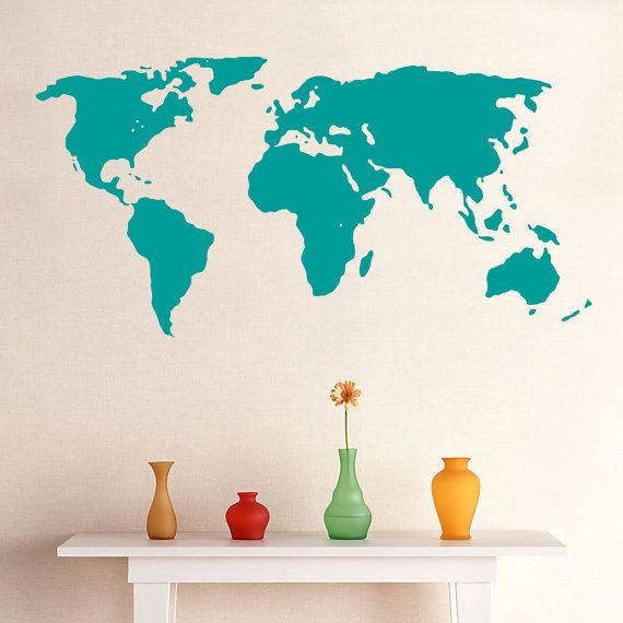 World map wall sticker choose desired size you may choose world map wall sticker choose desired size you may choose between 3 different sizes gumiabroncs Gallery