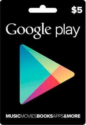 Google Play Gift Card 5 USD  American USA  eBay  Google Play Gift Card 5 USD  American USA  eBay