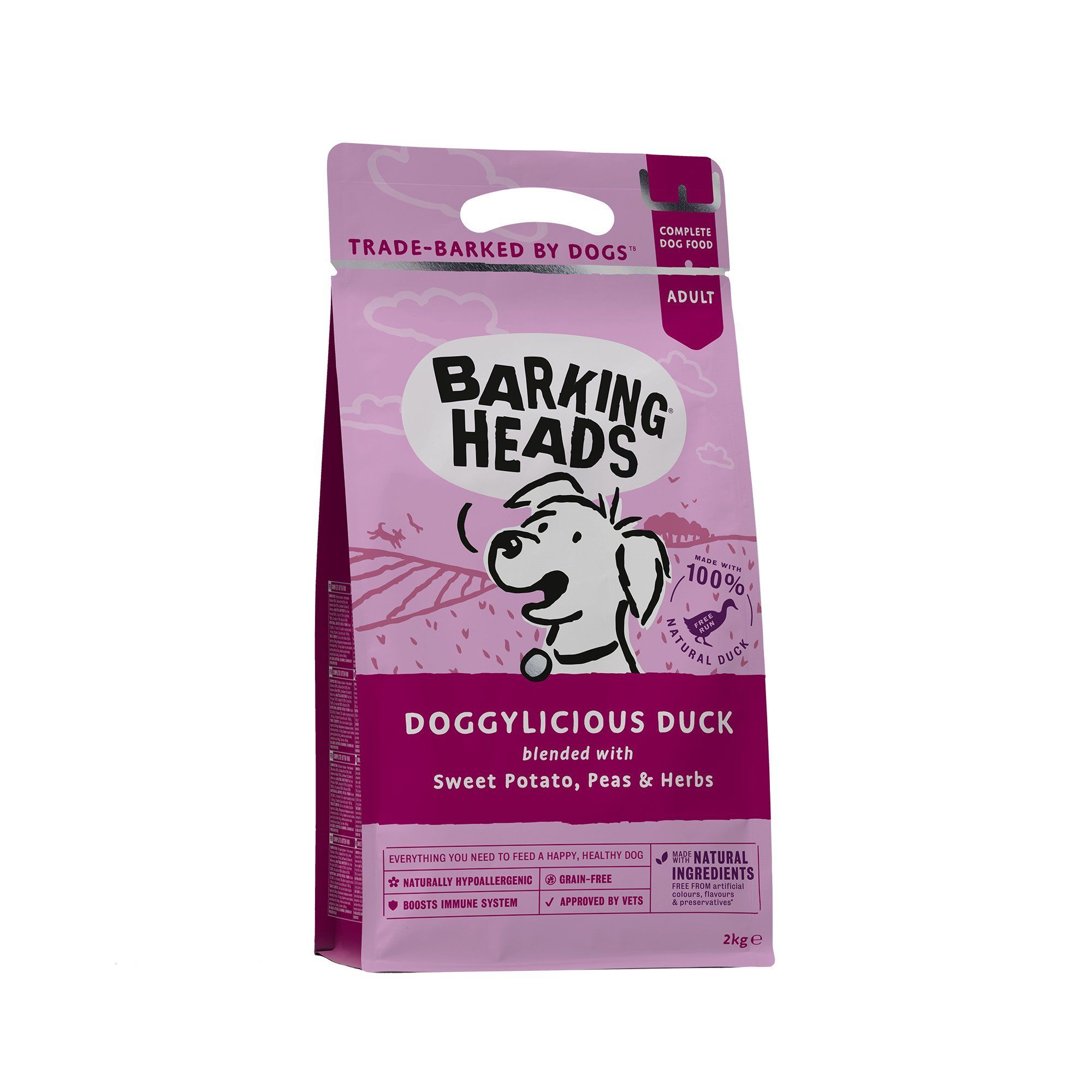 Barking Heads Dog Food Quackers Grain Free Duck 2kg Continue To
