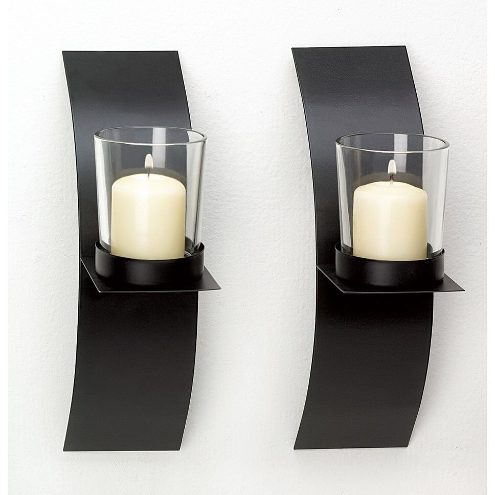 contemporary candle sconce  living room   pinterest  sconces  - contemporary candle sconce
