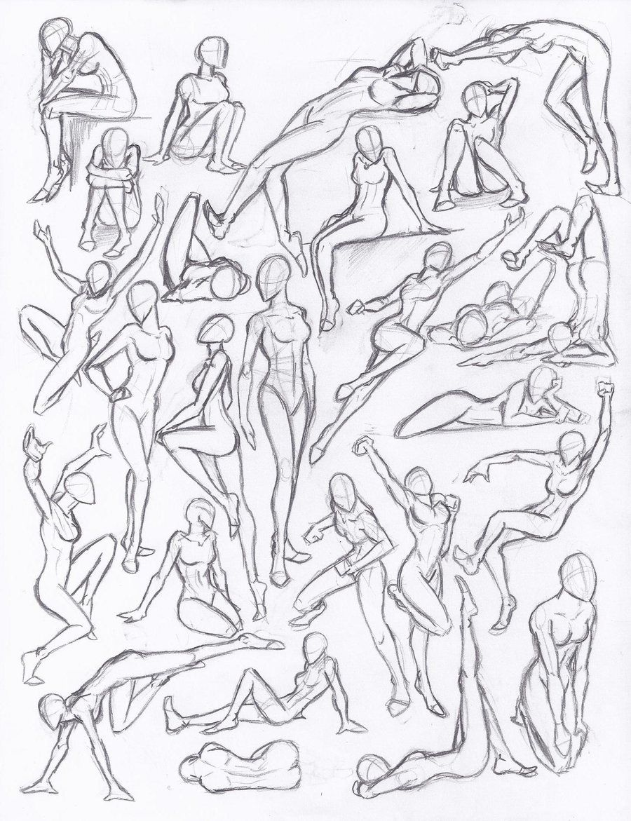 Figure drawing studies poses by neolupetrooper9893 deviantart com on deviantart