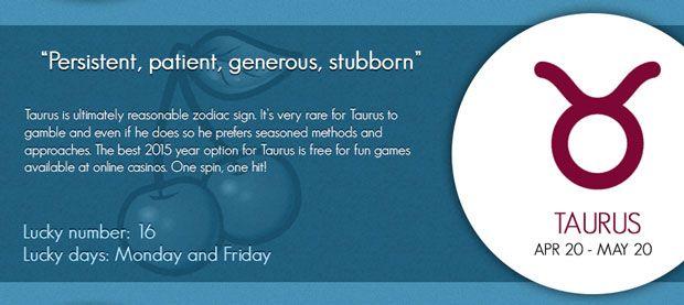 "Taurus Lucky Horoscope ♉ ""Persistent, patient, generous"