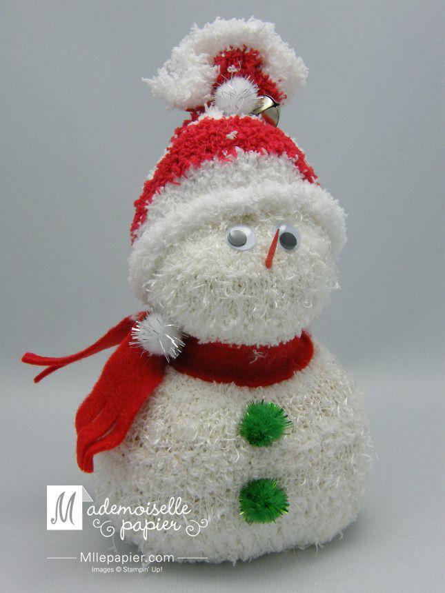 Bonhomme de neige réalisé dans mes ateliers d'art thérapie dans les résidences pour ainés. Visitez http://jardindepapier.com/bonhomme-de-neige/ pour le réaliser!