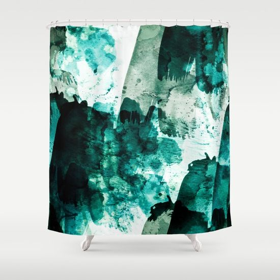 Customize Your Bathroom Decor With Unique Shower Curtains Designed By Artists Around The World Made From 100 Polye With Images Green Shower Curtains Unique Shower Curtain