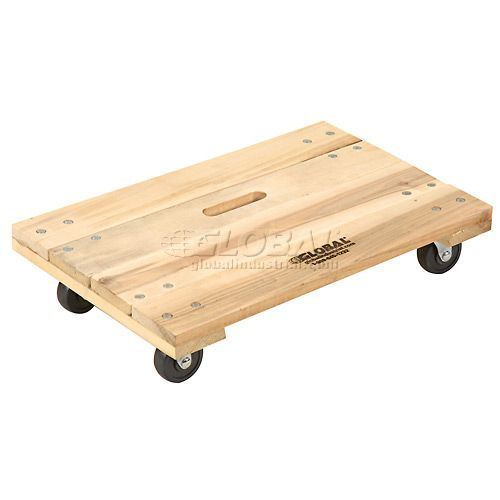Hardwood Dolly With Solid Deck 24 X 16 1000 Lb Capacity Furniture Dolly Hardwood Wood