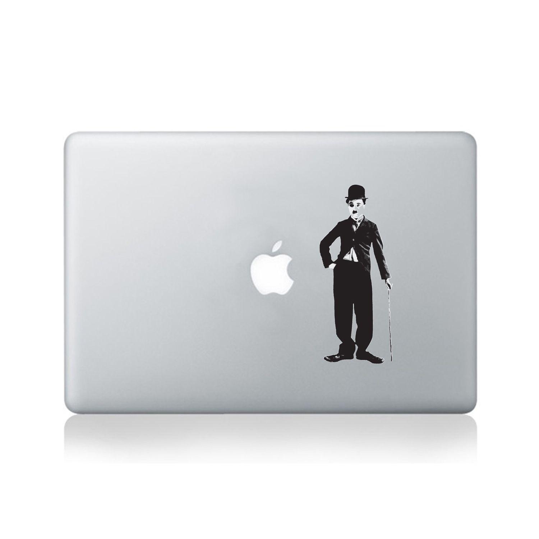 Charlie Chaplin Holding Cane Macbook Sticker#design #macbook #macbookstickers #pimpmymacbook #decals #stickers #vinyl #DIY #laptop #charliechaplin #cane