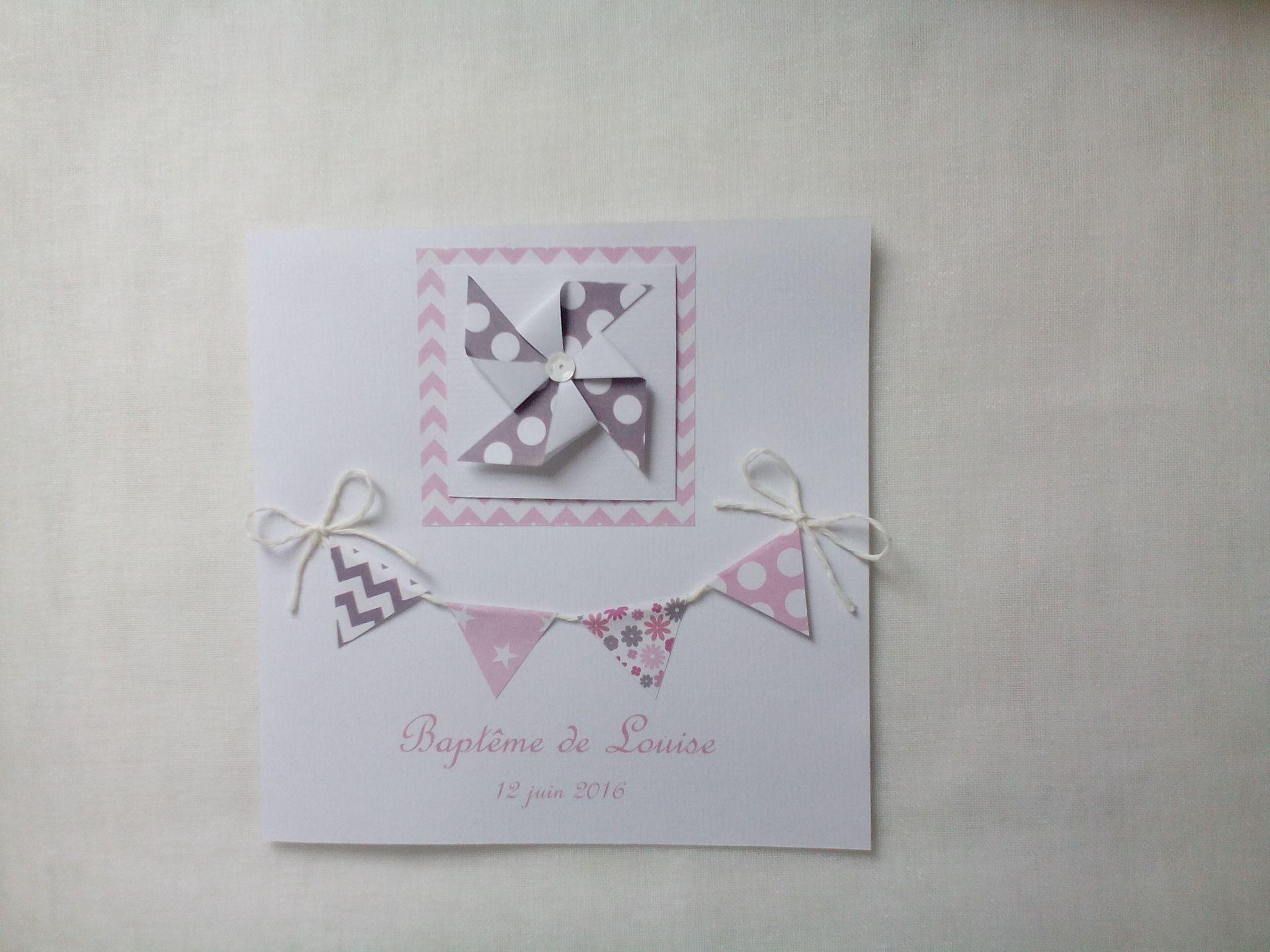 maquette faire part naissance blanc et rose moulin vent enveloppe faire part par moments. Black Bedroom Furniture Sets. Home Design Ideas