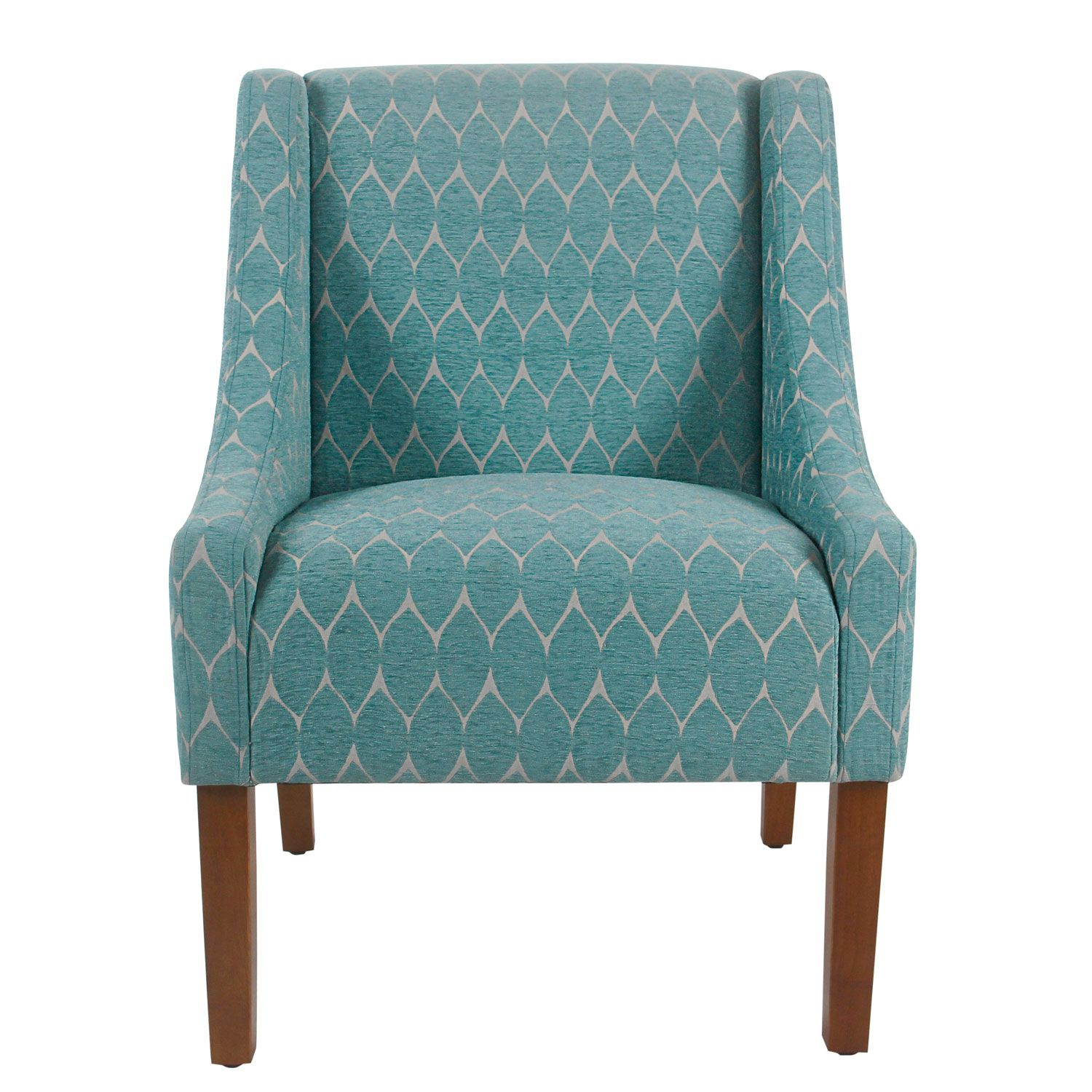 Meadow Lane Modern Swoop Accent Chair Textured Teal K6908 F2247