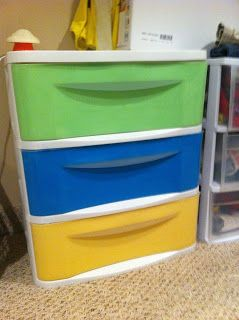 Beau Kids Room... Re Done Plastic Drawers... DIY