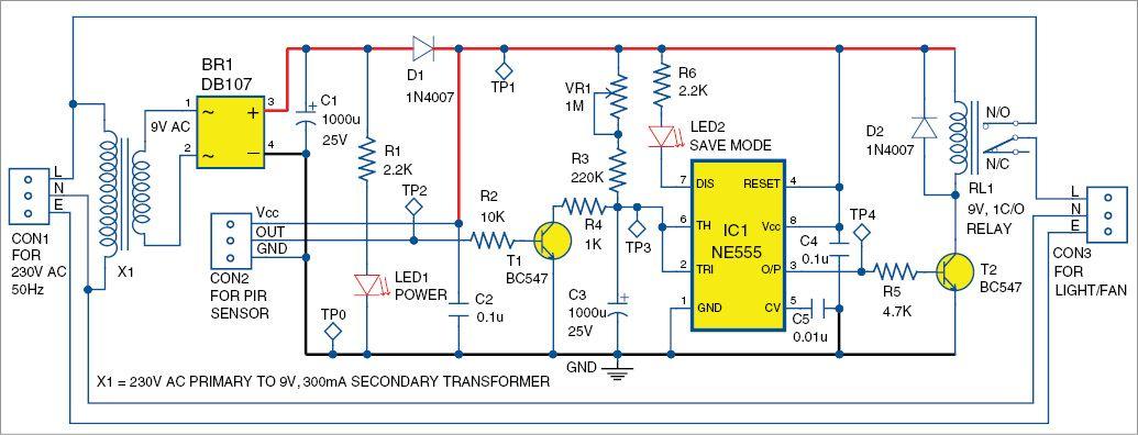Infrared Sensor Based Power Saver