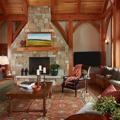 Dise o de sala estar con ideas fotos y tips de - Disenos de chimeneas rusticas ...