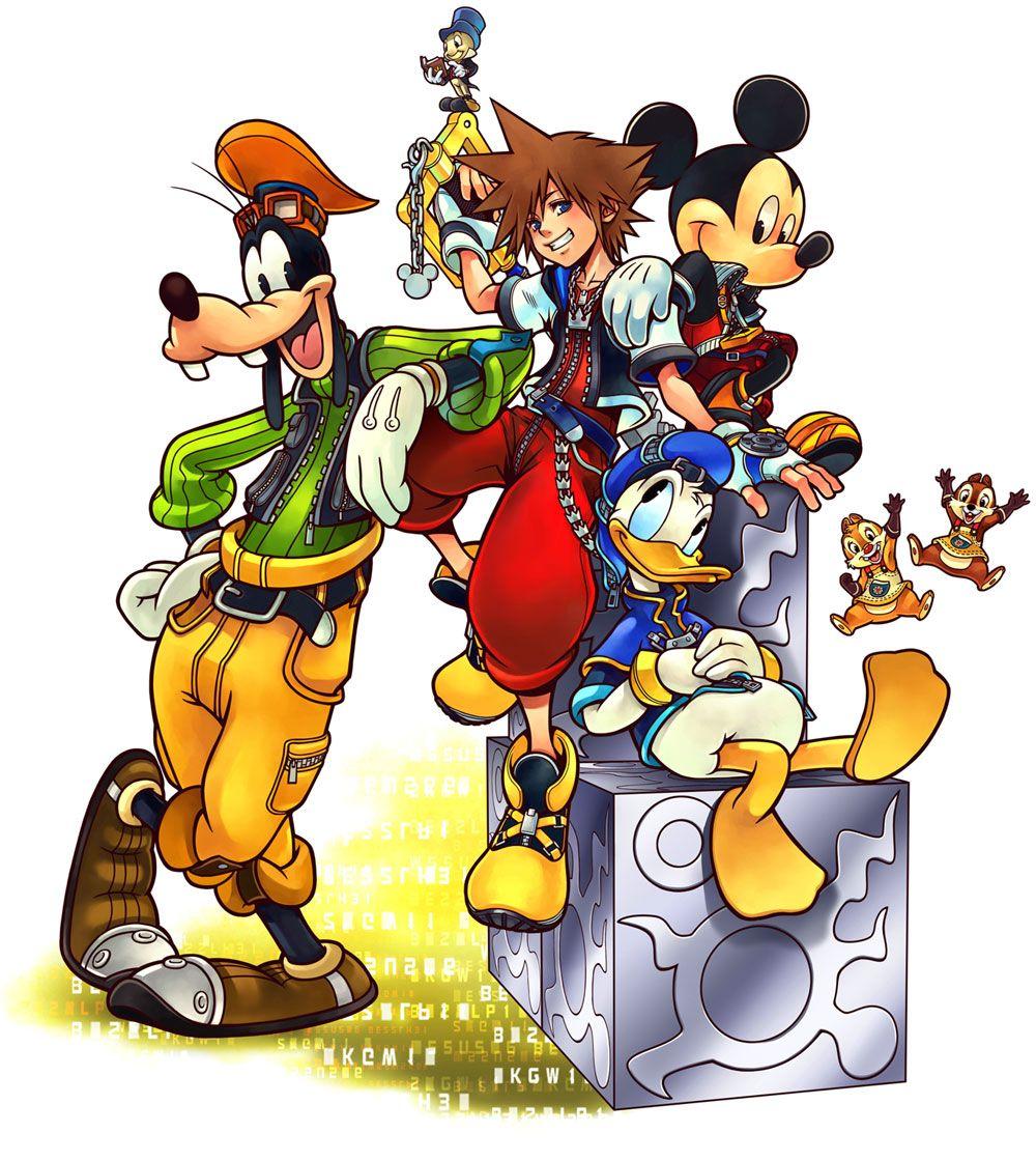 Kingdom Hearts Re:coded - Main Illustration | KH | Kingdom hearts ii
