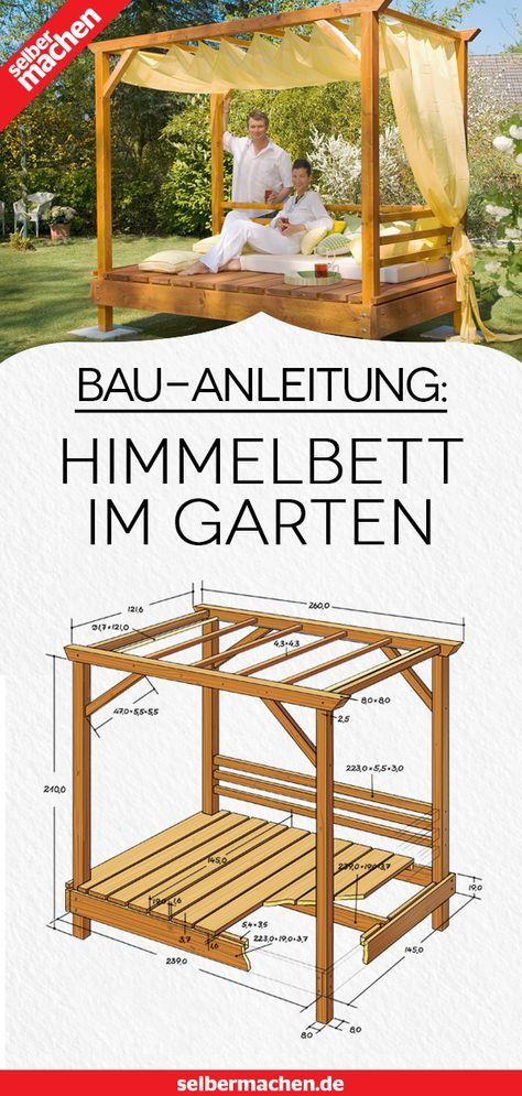 Himmelbett für den Garten selber bauen: Wir zeigen dir, wie!