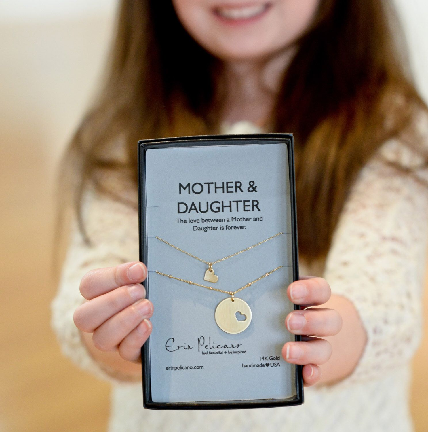 Mom Daughter Jewelry Two of a Kind Mother Daughter Necklace Set. Gold Jewelry. Necklace Gift for Mom. Inspirational Jewelry. Gift for Her