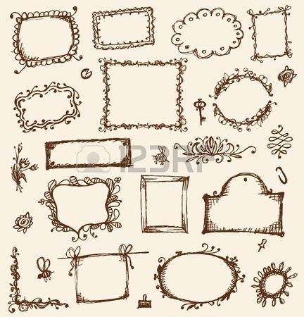 Marcos vintage im genes de archivo vectores marcos - Marcos de cuadros vintage ...