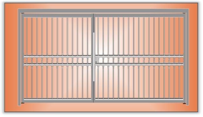 Rejas y portones construcciones en hierro porton rejas for Modelos de rejas de fierro para puertas