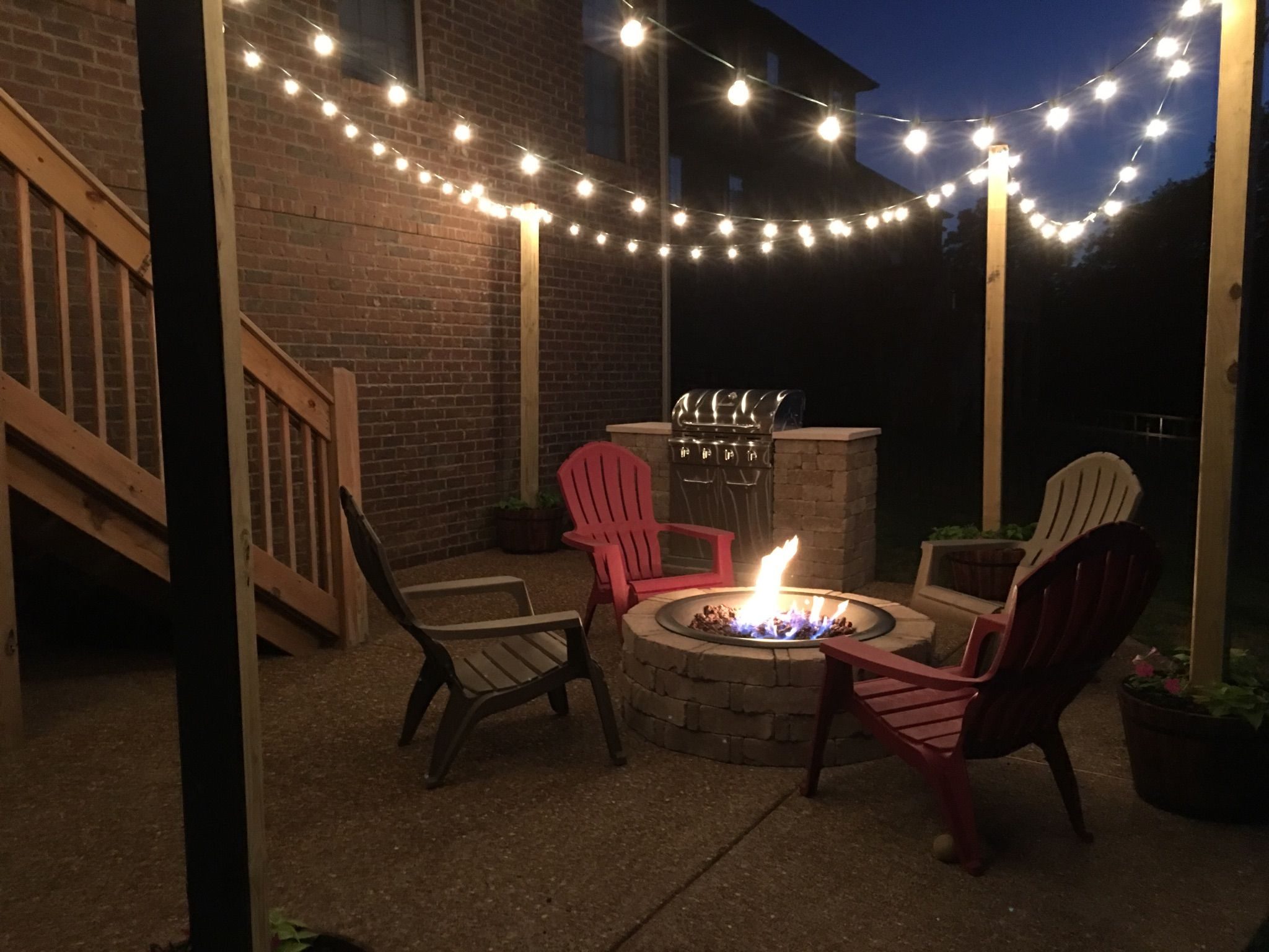 Patio string lights For Rick Pinterest