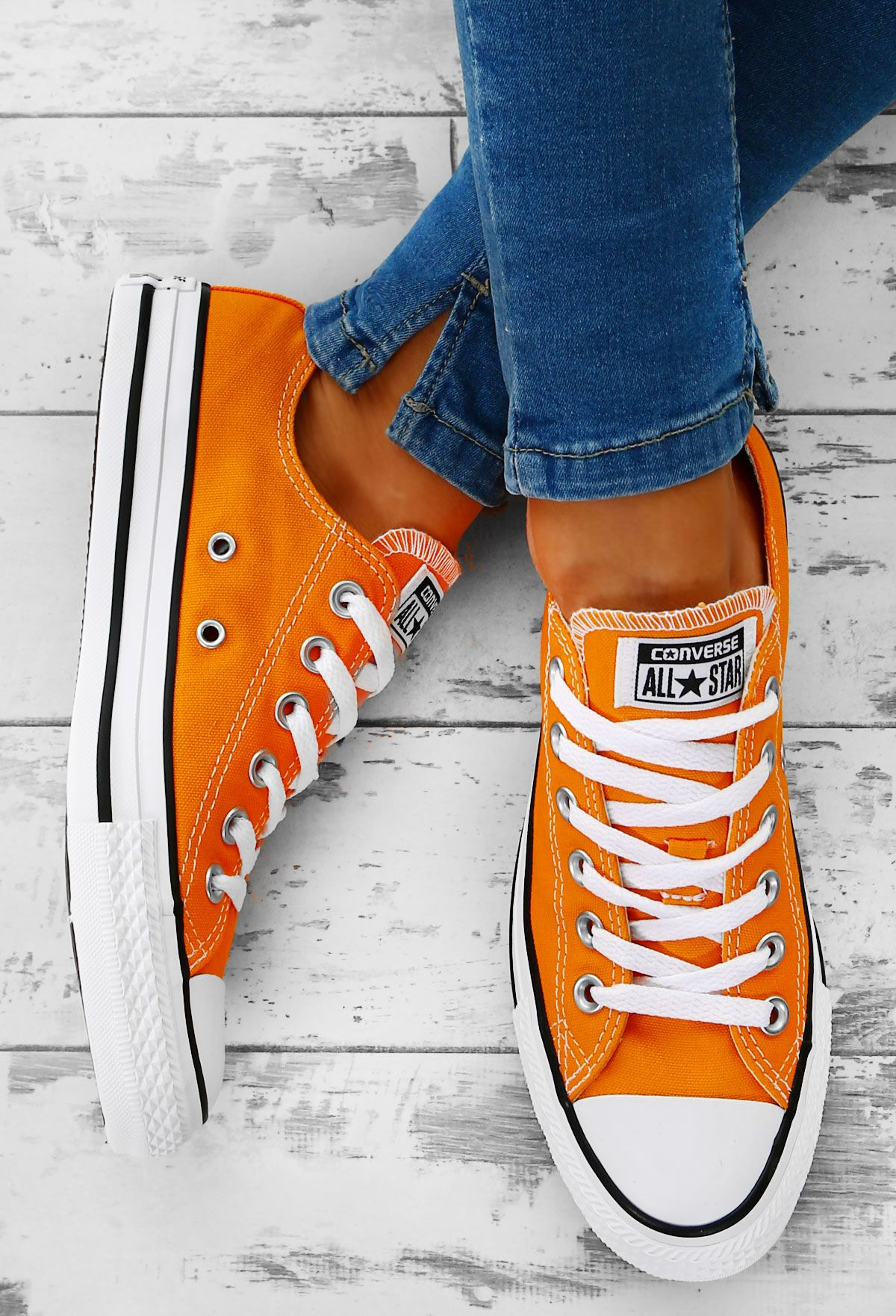 0d18d9df4f2e3f Style it up for summer in these gorge orange Converse trainers! These  orange Chuck Taylors
