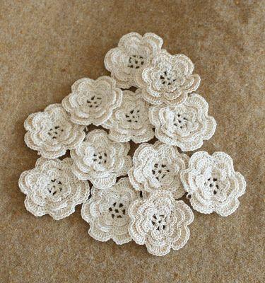 Wild Rose Vintage: Crochet Flowers and Rick Rack Roses | Crochet ...