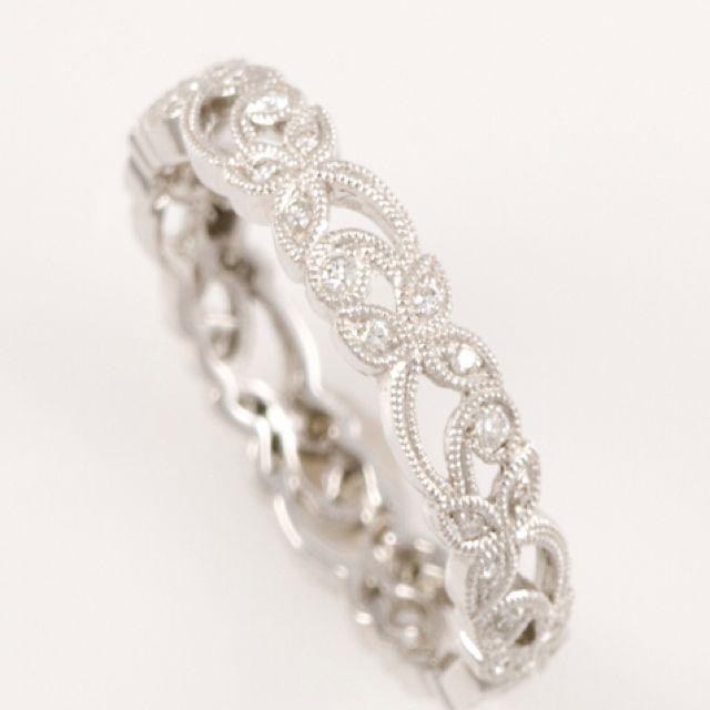 Floral Diamond Wedding Band Pretty Wedding Bands Tungsten Wedding Bands Wedding Rings Simple