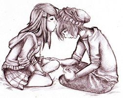 Deviantart More Like Chibi Kisses By Kyrieeleison716 Cute Emo Couples Cute Couple Drawings Couple Drawings