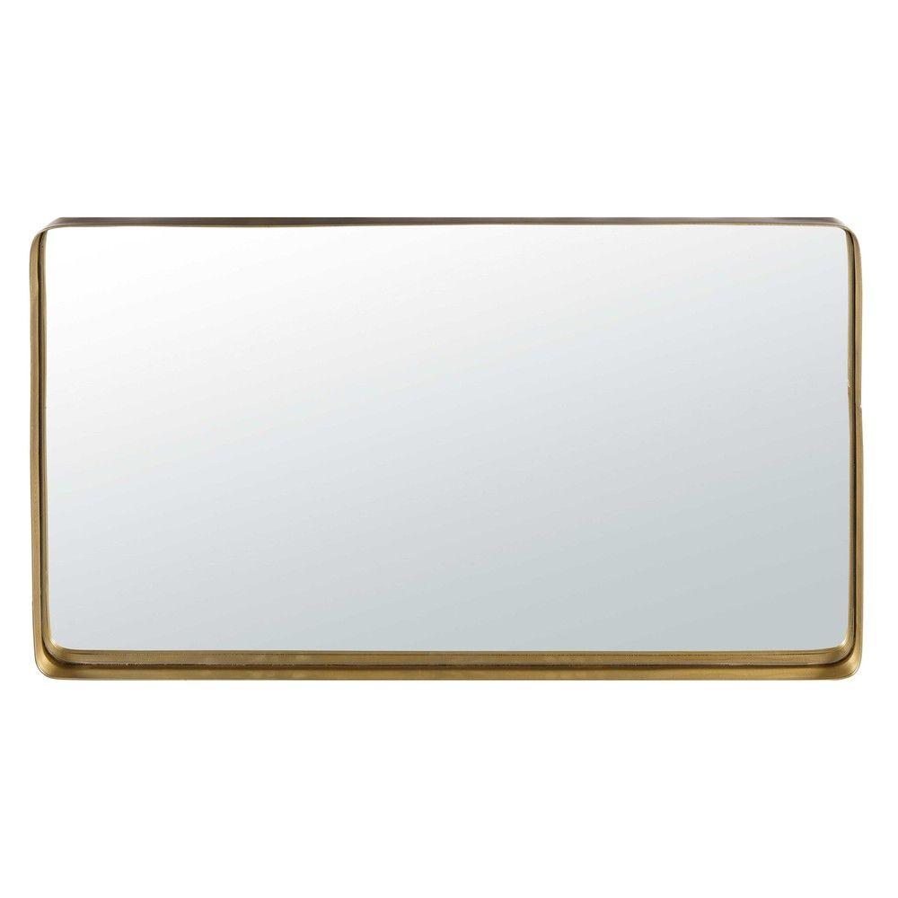 Miroir En Metal Dore 50x91cm Maisons Du Monde Pour La Salle De