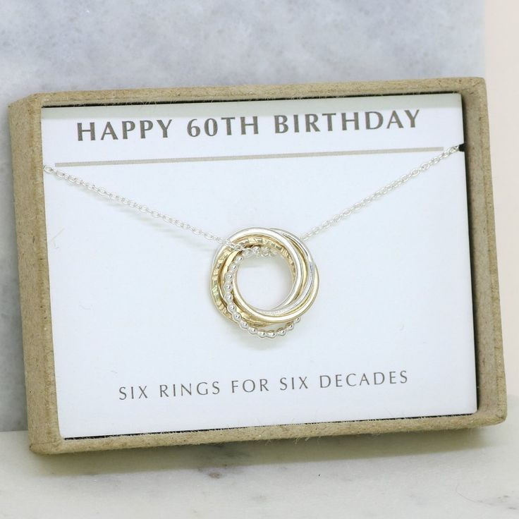 60th birthday necklace dainty 60th birthday dainty