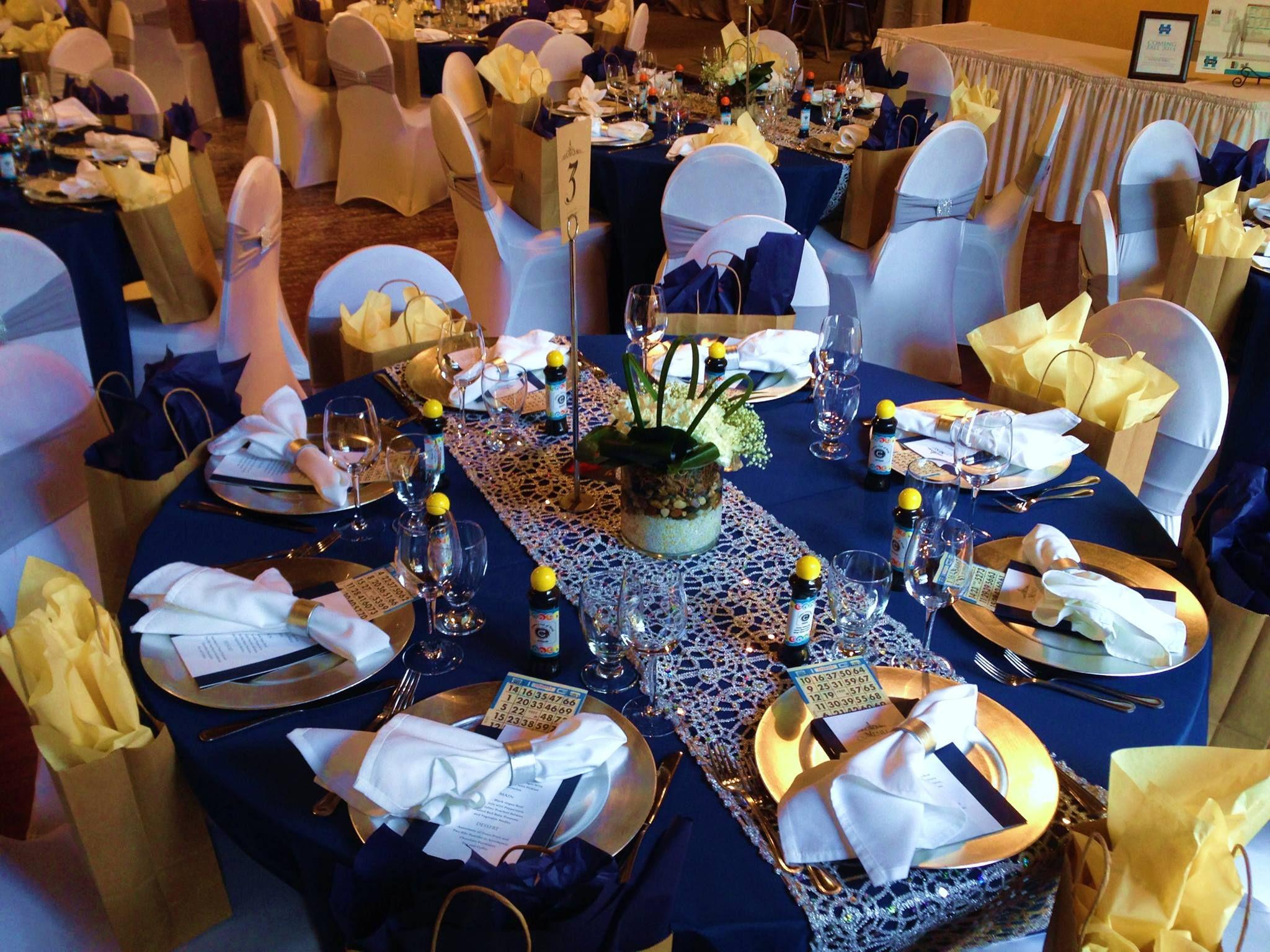 Captain S Dinner Nautical Theme Gala Navy White And