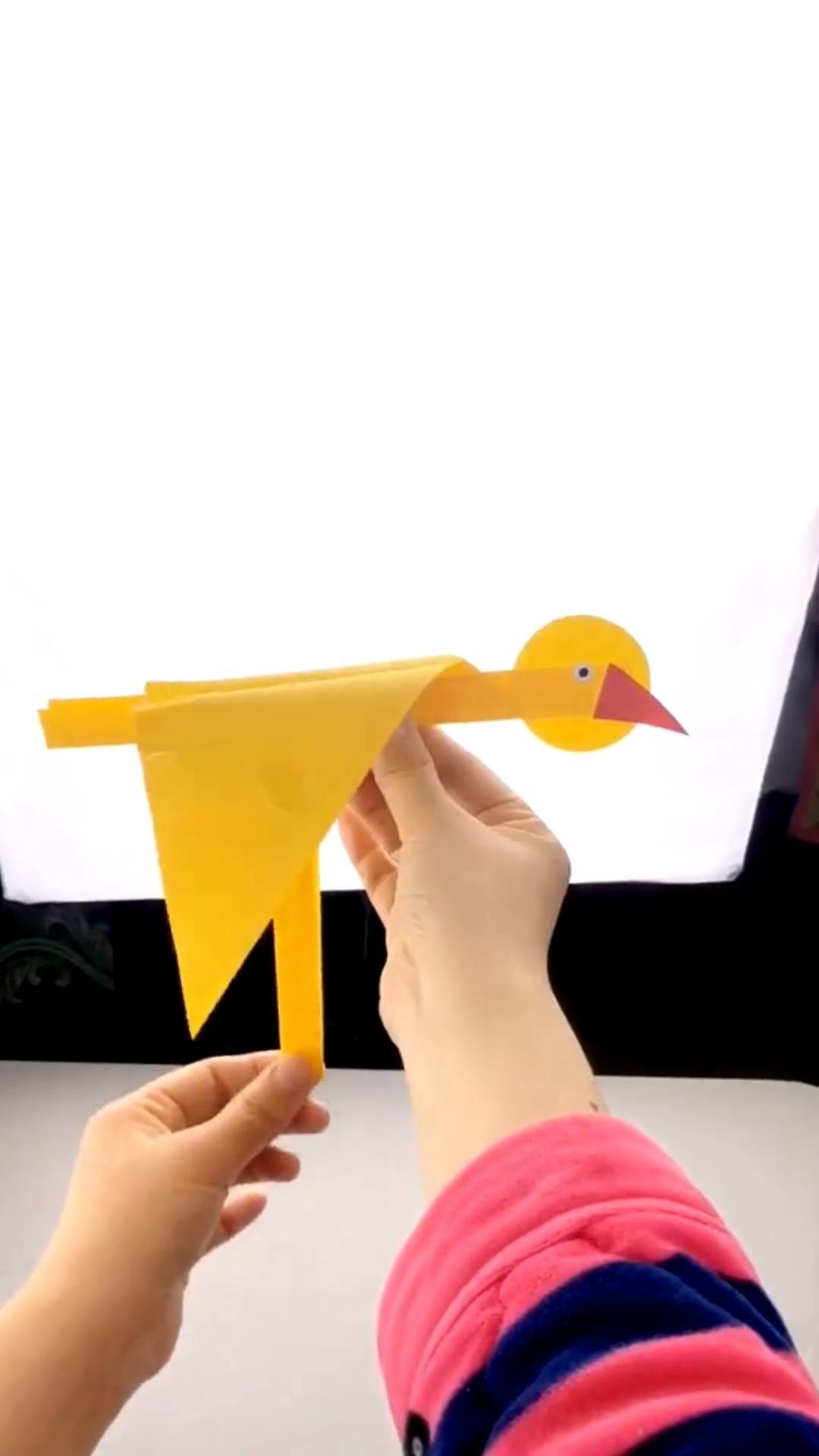 Origami paper bird - easy origami tutorial