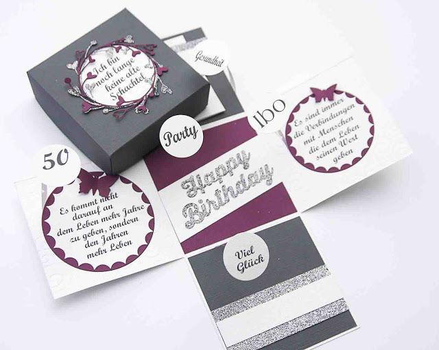 Explosionsbox Runder Geburtstag  Geschenkverpackungen